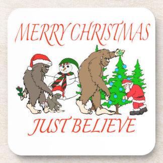 Bigfoot Family Christmas 2 Coaster