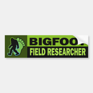Bigfoot Field Researcher Bumper Sticker
