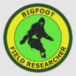 Bigfoot Field Researcher Round Stickers