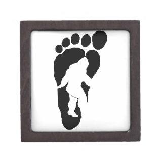 Bigfoot footprint jewelry box