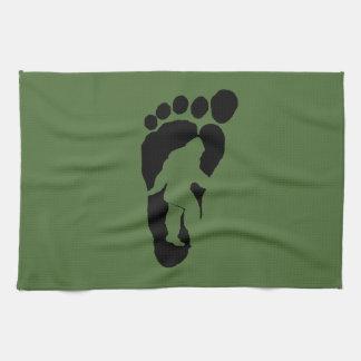 Bigfoot footprint kitchen towel