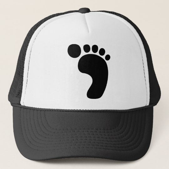 Bigfoot footprint Sasquatch Trucker Hat  05171cff30c