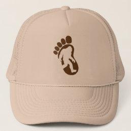 Bigfoot Footprint Silhouette Sasquatch Trucker Hat
