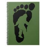 Bigfoot footprint spiral notebooks
