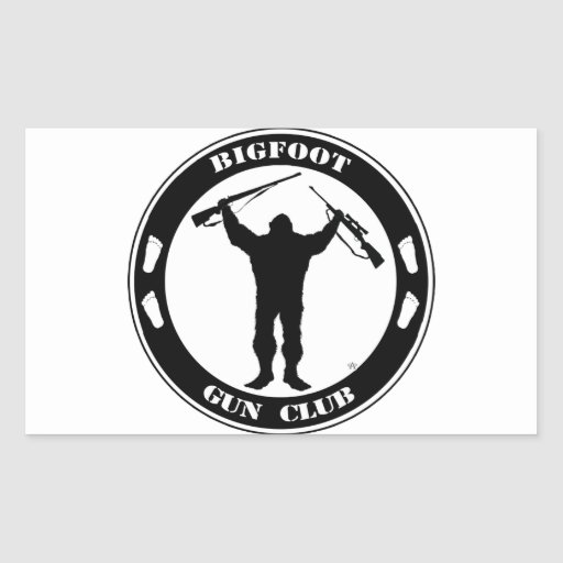 Bigfoot Gun Club Rectangular Sticker