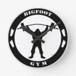 Bigfoot Gym Round Wallclock