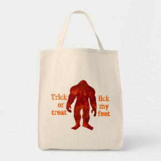 Bigfoot Halloween Grocery Tote Bag