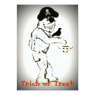 """Bigfoot Halloween invita Invitación 5"""" X 7"""""""