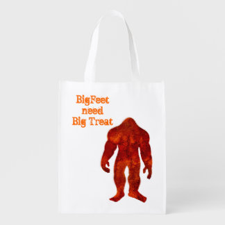 Bigfoot Halloween Reusable Grocery Bag