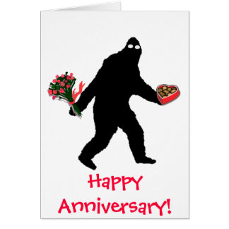 Bigfoot Happy Anniversary Card