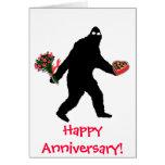 Bigfoot Happy Anniversary Greeting Card