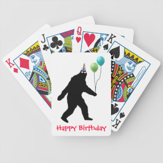 Bigfoot Happy Birthday! Bicycle Playing Cards