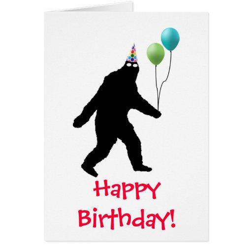 Bigfoot Happy Birthday! Cards