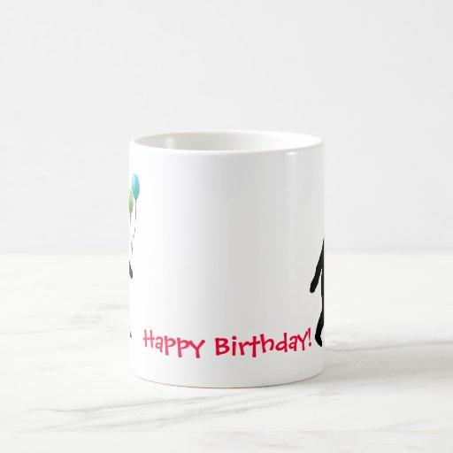 Bigfoot Happy Birthday! Classic White Coffee Mug