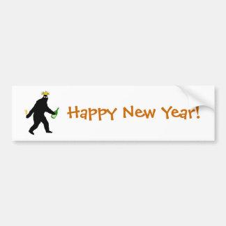 Bigfoot Happy New Year! Car Bumper Sticker