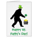 Bigfoot Happy St. Patty's Day Card