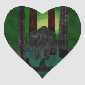 bigfoot heart sticker