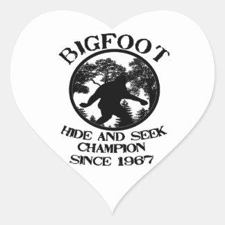 Bigfoot Hide and Seek Champion Since 1967 Heart Sticker