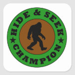 Bigfoot Hide And Seek Champion Stickers