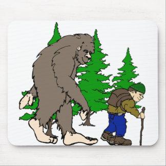 Bigfoot. hiker mouse pad