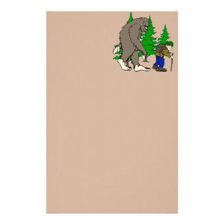 Bigfoot. hiker stationery paper