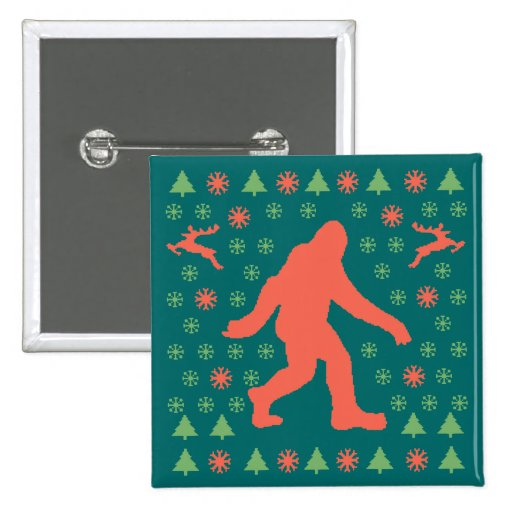 Bigfoot Holiday Sweater Tees Button