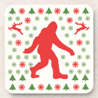 Bigfoot Holiday Sweater Tees Coasters