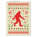Bigfoot Holiday Sweater Tees Greeting Card
