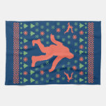 Bigfoot Holiday Sweater Tees Kitchen Towels