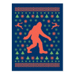 Bigfoot Holiday Sweater Tees Post Card