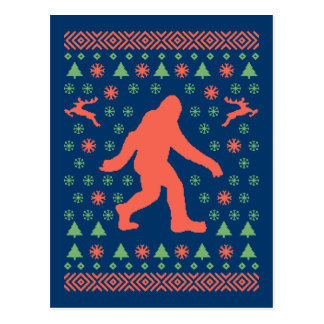 Bigfoot Holiday Sweater Tees Postcard