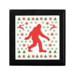 Bigfoot Holiday Sweater Tees Trinket Boxes