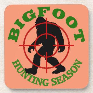 Bigfoot Hunting Season Beverage Coaster