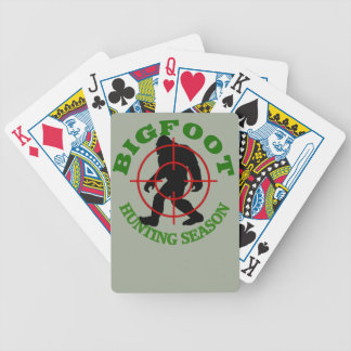 Bigfoot Hunting Season Bicycle Playing Cards