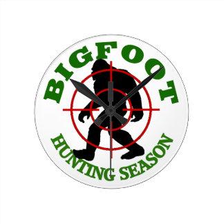 Bigfoot Hunting Season Round Clock