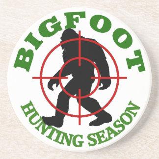 Bigfoot Hunting Season Sandstone Coaster
