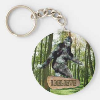 Bigfoot I Believe Keychain