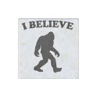 Bigfoot I Believe Stone Magnet