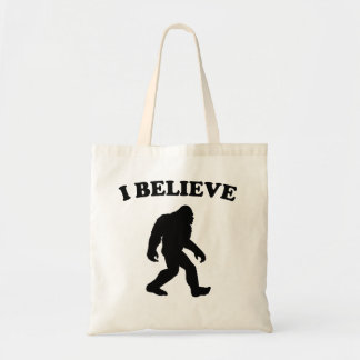 Bigfoot I Believe Tote Bag