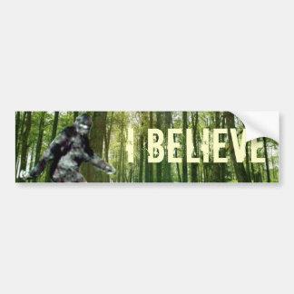 Bigfoot I cree a la pegatina para el parachoques Pegatina De Parachoque