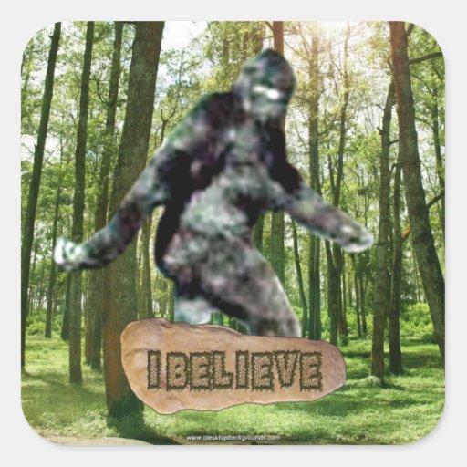 Bigfoot I cree al pegatina