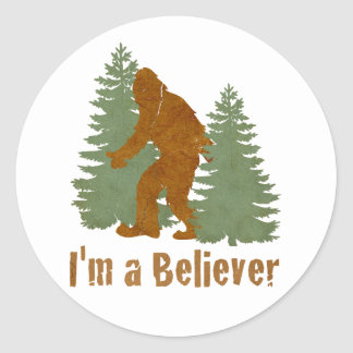 Bigfoot - I'm a Believer Classic Round Sticker