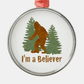 Bigfoot - I'm a Believer Metal Ornament