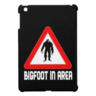Bigfoot in Area Caution Warning Triangle Sign iPad Mini Cases
