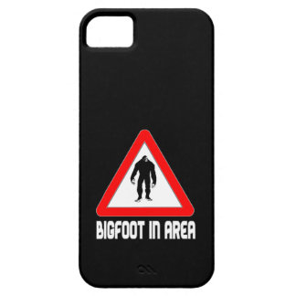 Bigfoot In Area Warning Triangle iPhone 5 Cases