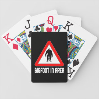 Bigfoot in Area! Warning Triangle & Squatch Bicycle Playing Cards