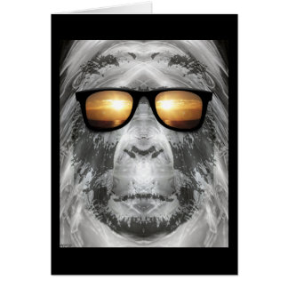 Bigfoot In Shades Card