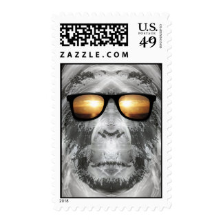 Bigfoot In Shades Postage Stamp