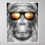 Bigfoot In Shades Print