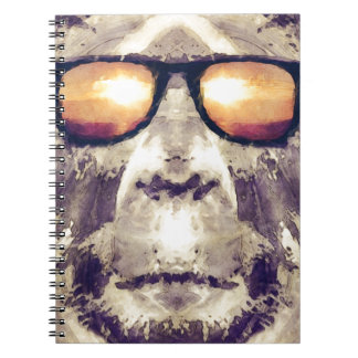 Bigfoot In Shades Spiral Notebook